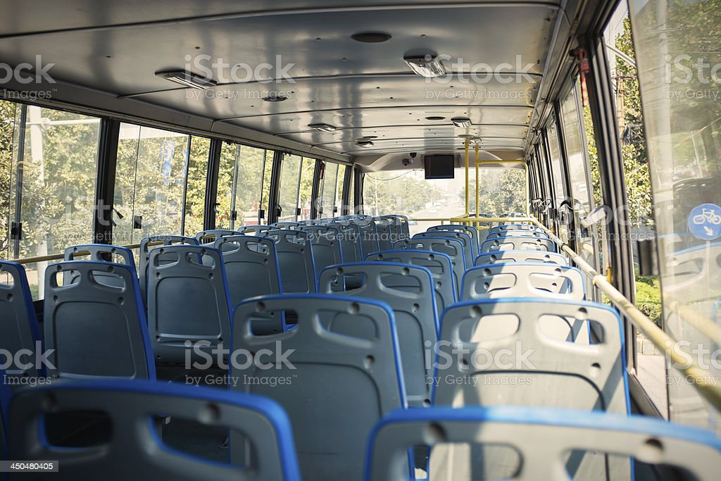 seats in a bus royalty-free stock photo