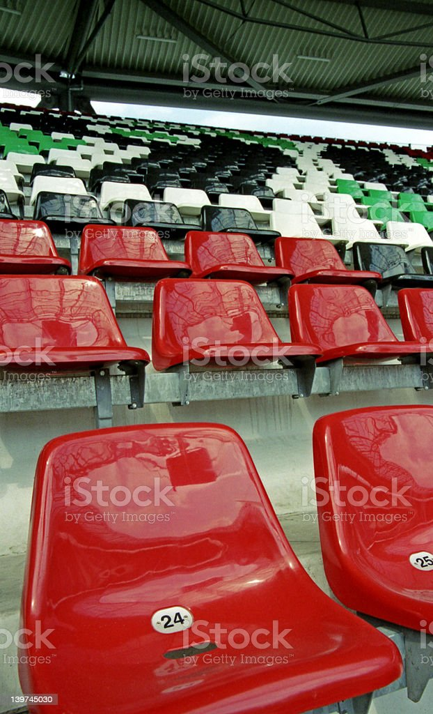 seats in a stadium 2 royalty-free stock photo
