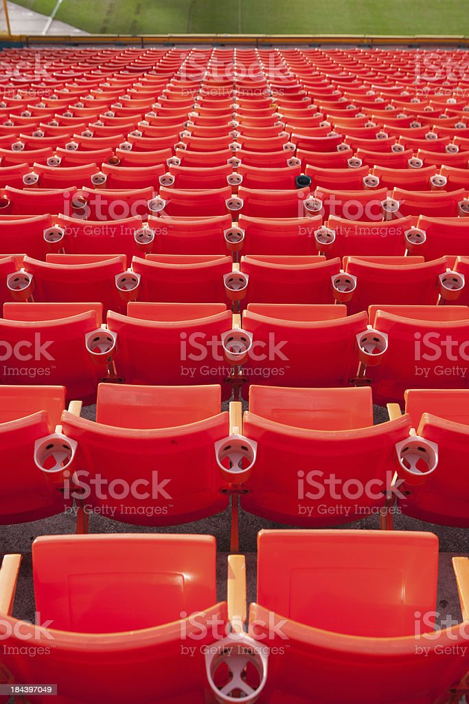 Seats in a stadium royalty-free stock photo