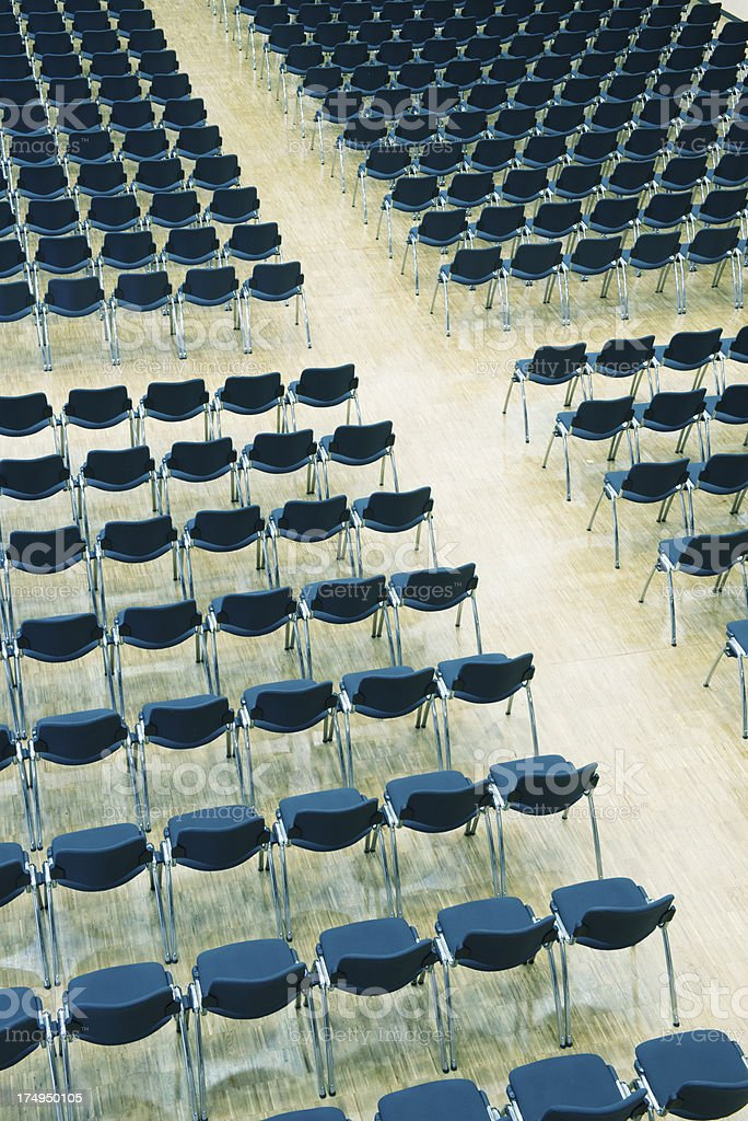 Seats in an audience royalty-free stock photo