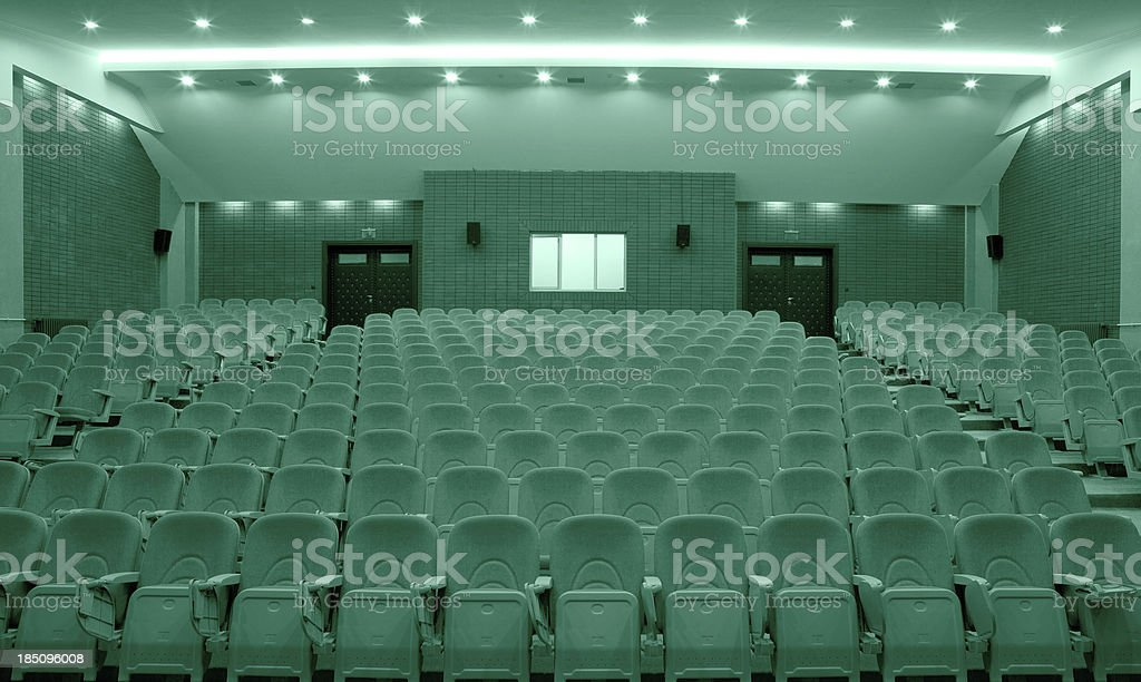 seats in an auditorium. royalty-free stock photo