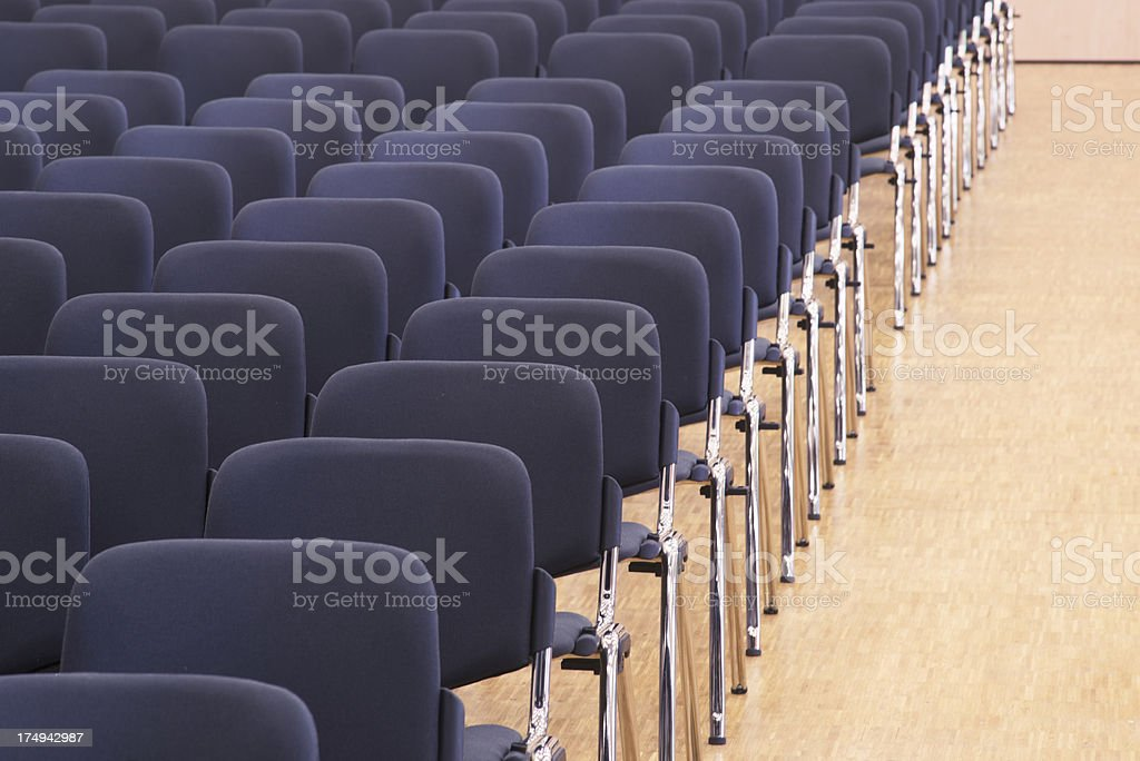 Seats in an empty audience hall royalty-free stock photo