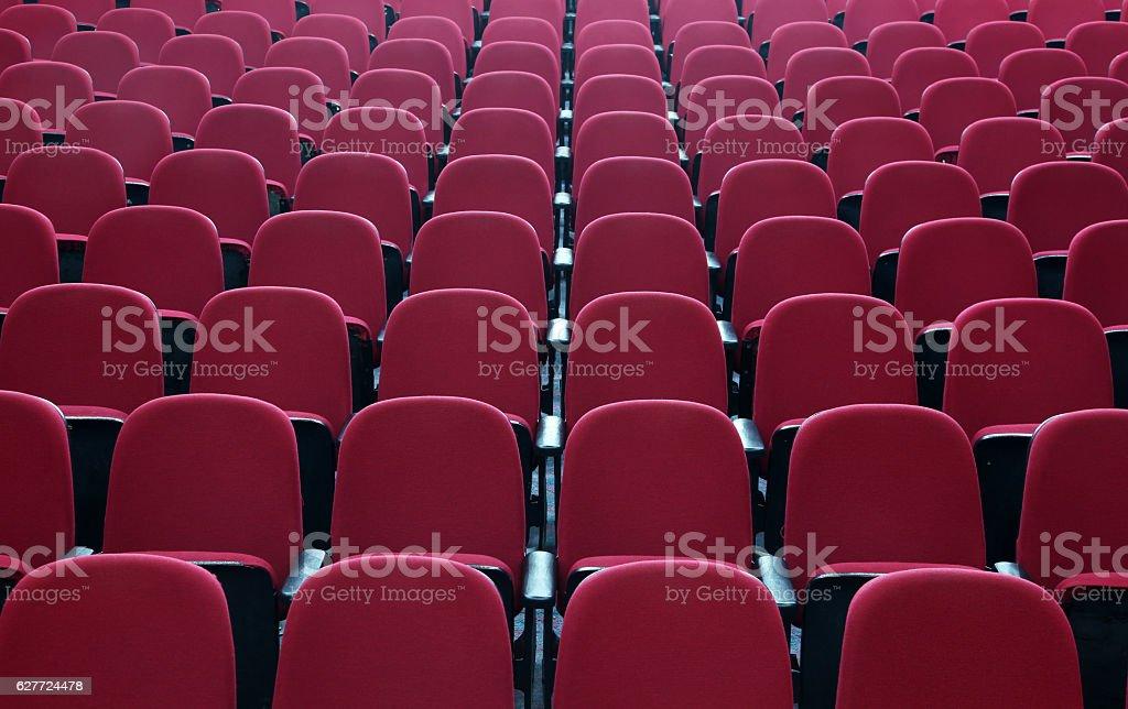 Seats in cinema theater opera concert hall stock photo