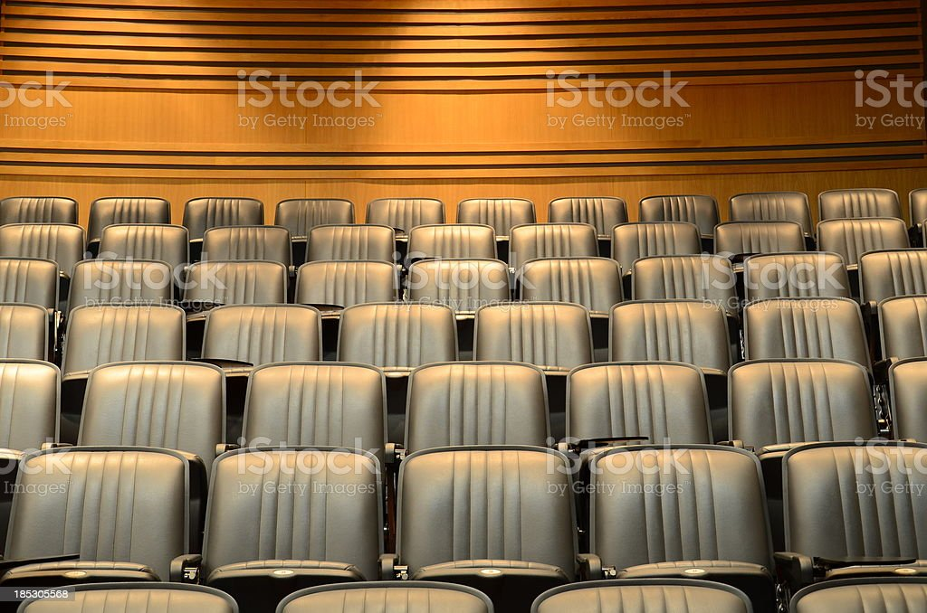 Seats in lecture theatre/conference hall royalty-free stock photo