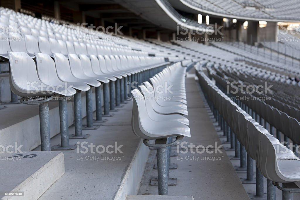 Seats In Stadium royalty-free stock photo