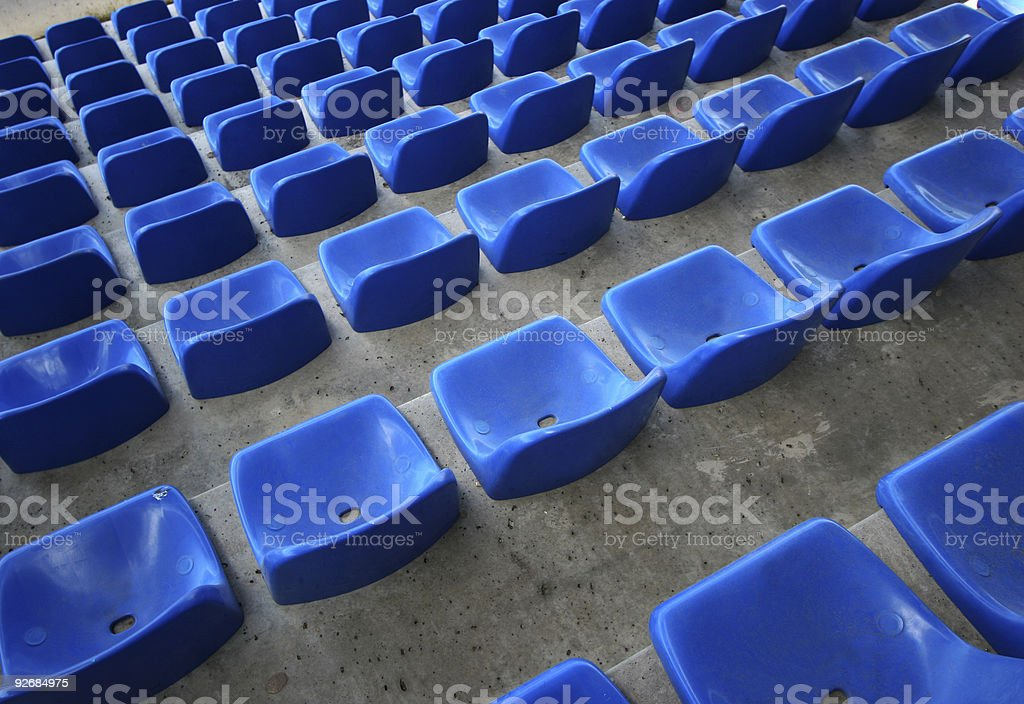 Seats in stadium royalty-free stock photo