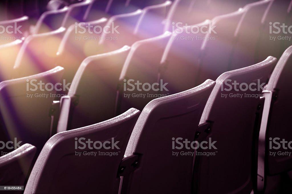 Seats in the cinema stock photo