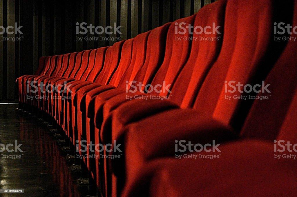 seats in theatre stock photo