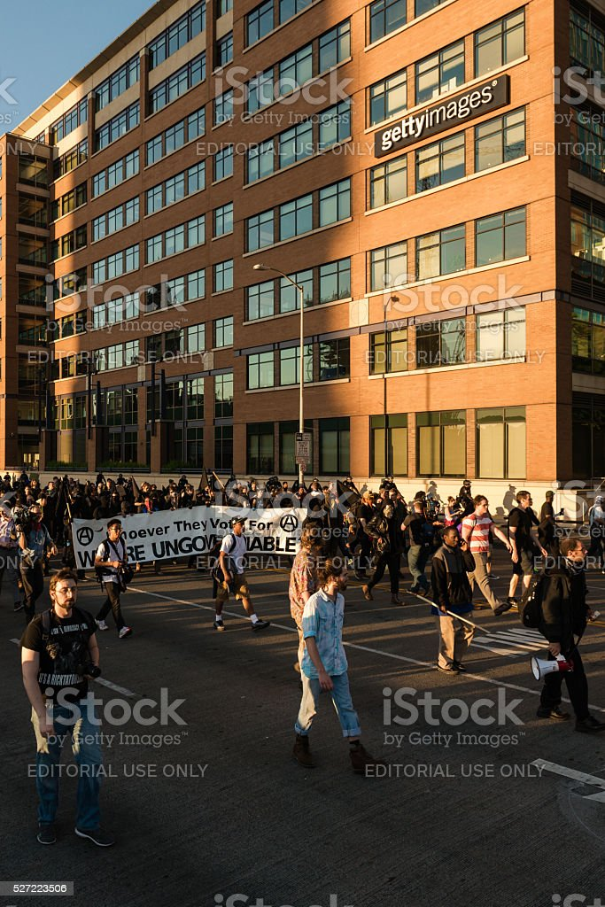 Seattle Anarchists stock photo