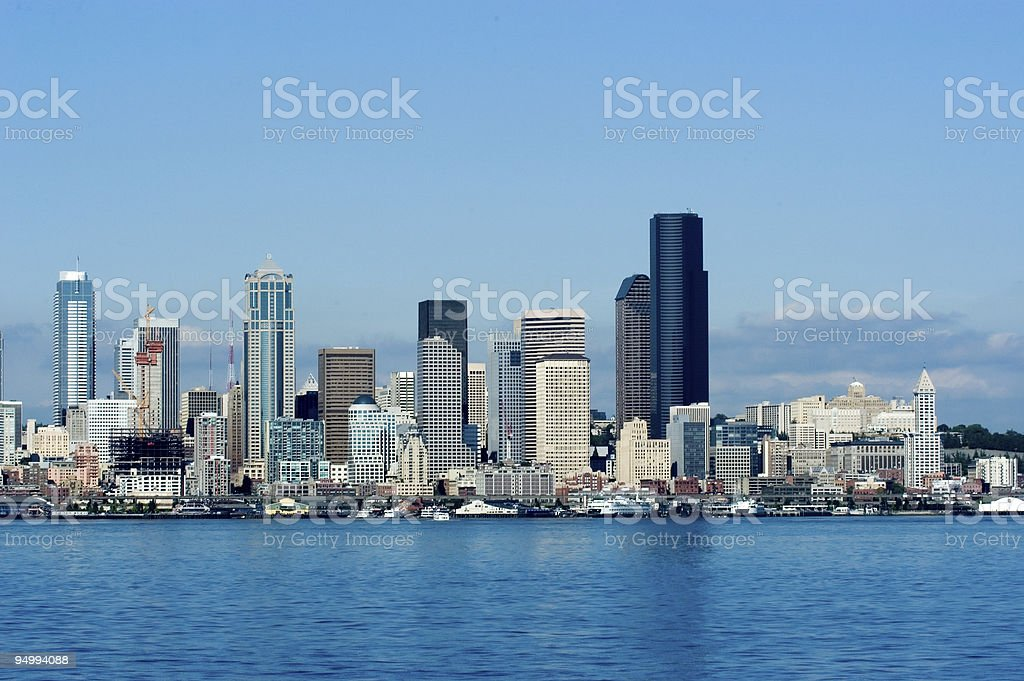 Seattle at day royalty-free stock photo