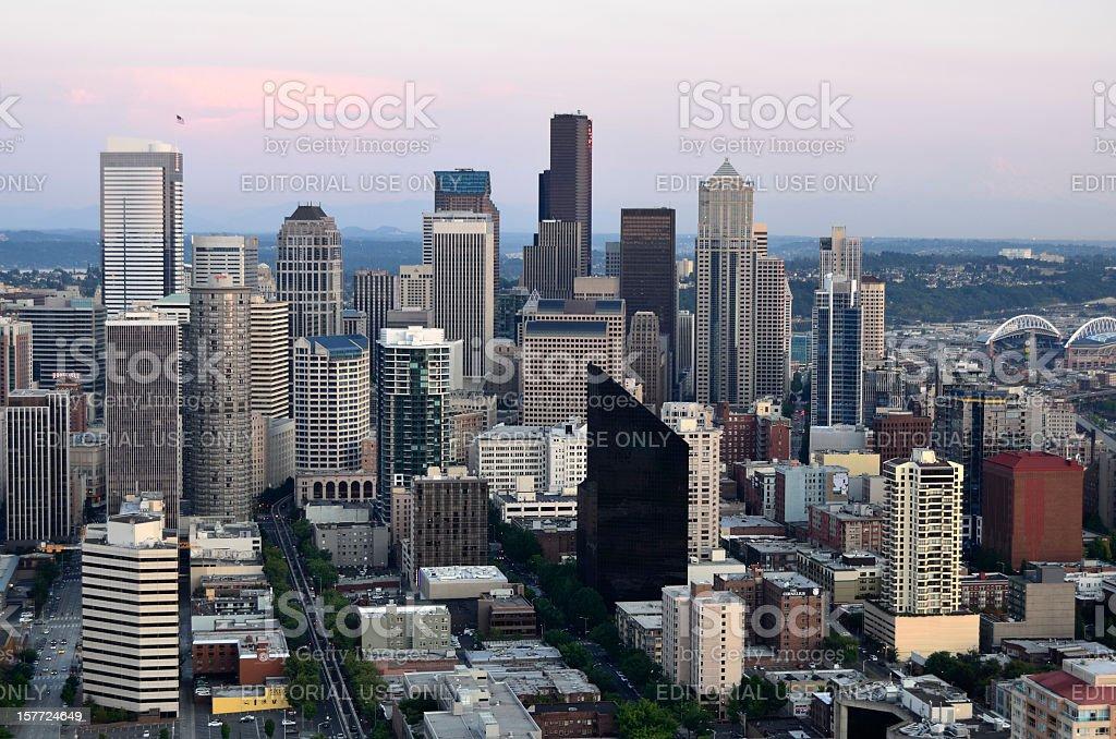 Seattle at Dusk stock photo