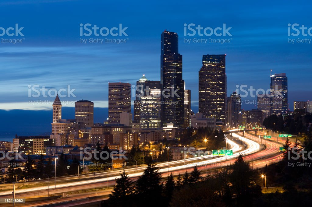 Seattle at Dusk royalty-free stock photo