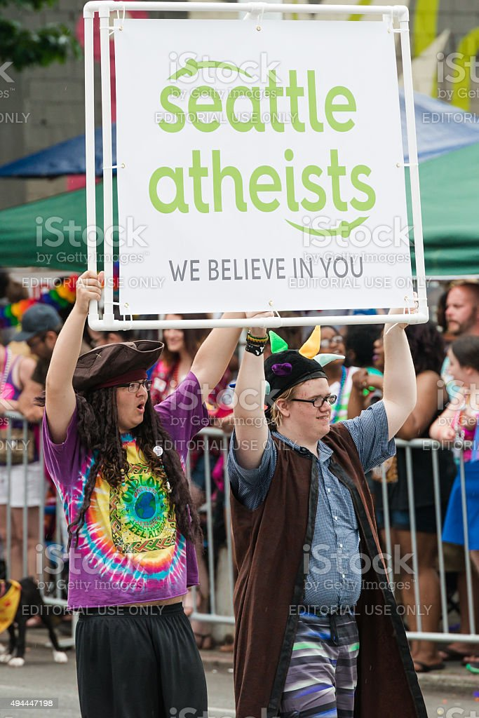 Seattle Atheists stock photo