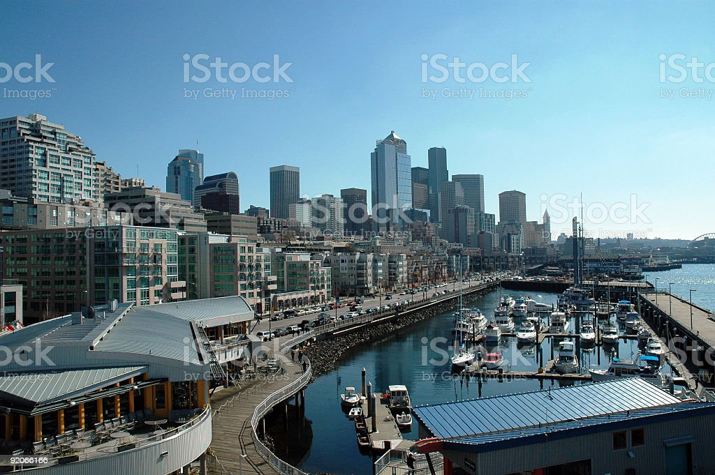 Seattle Atlantic Boulevard royalty-free stock photo
