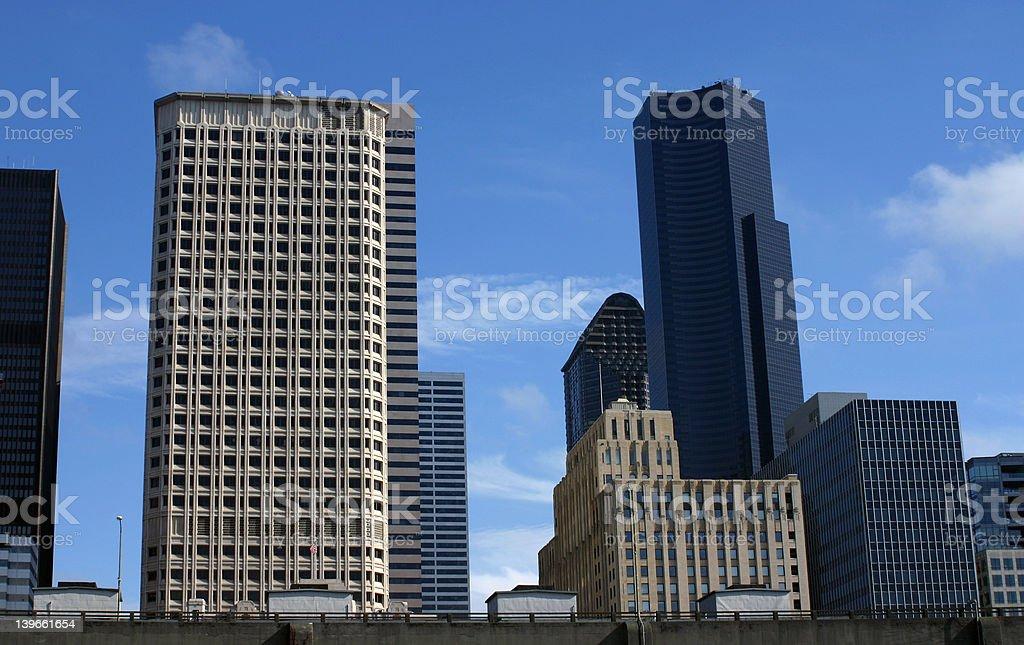 Seattle buildings stock photo