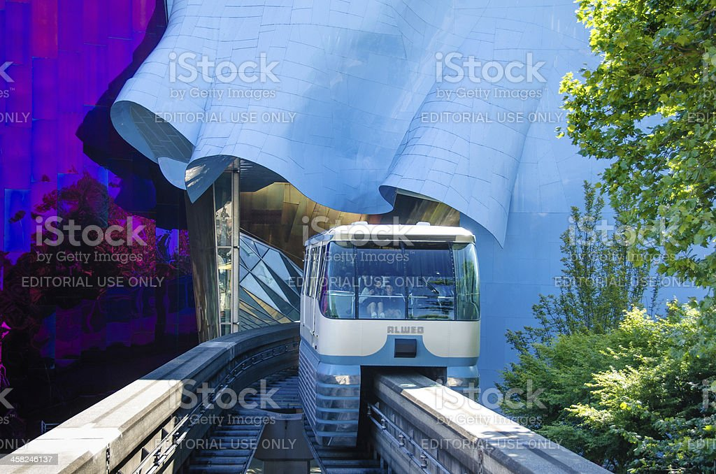 Seattle Center Monorail stock photo