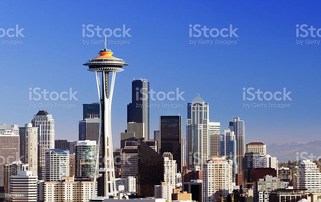 Seattle City Skyline Washington USA stock photo