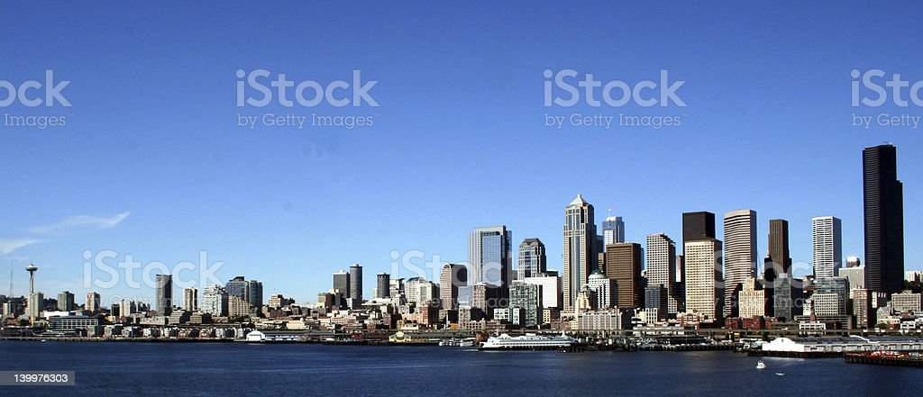 Seattle Coastline royalty-free stock photo