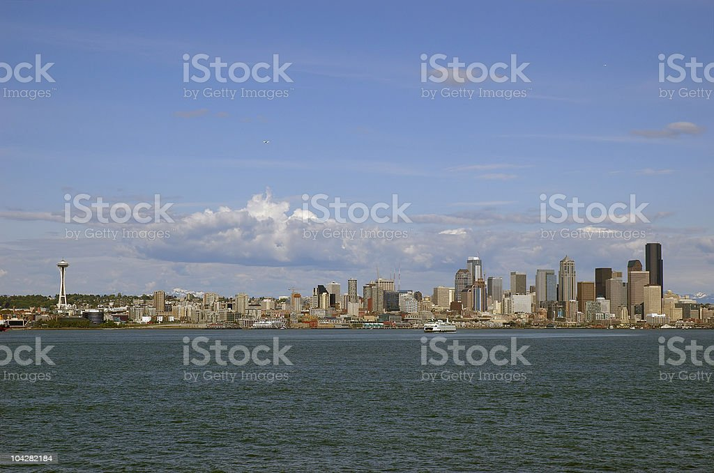 Seattle downtown royalty-free stock photo