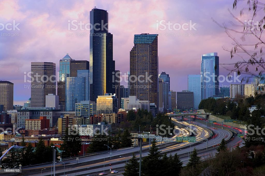 Seattle Downtown royalty-free stock photo