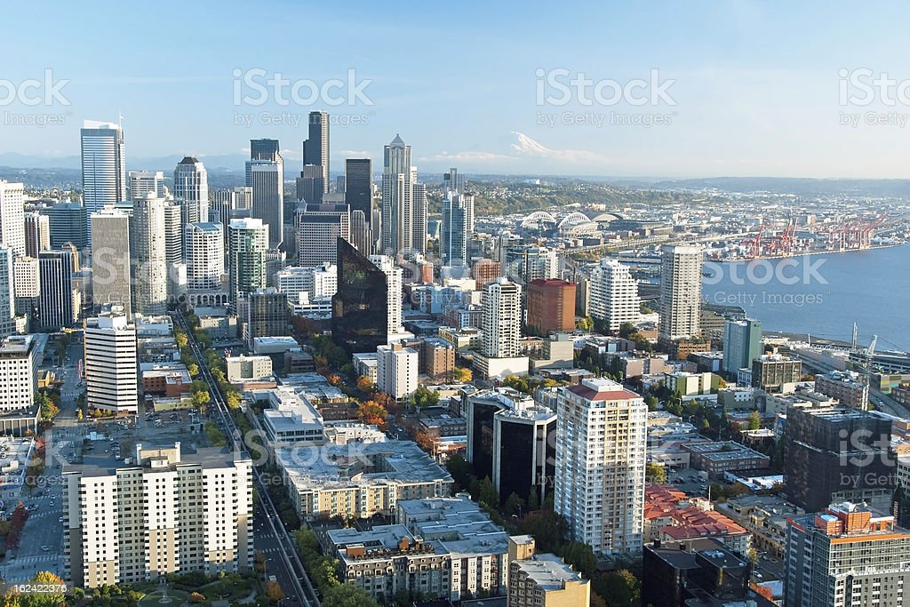 Seattle downtown skyline royalty-free stock photo
