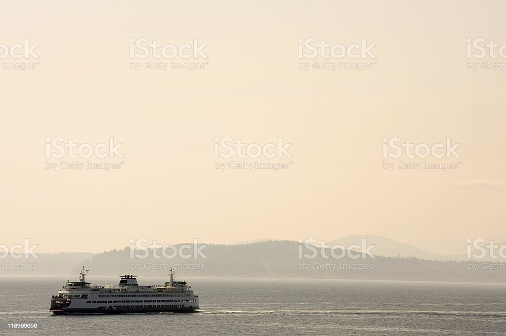 Seattle ferry stock photo