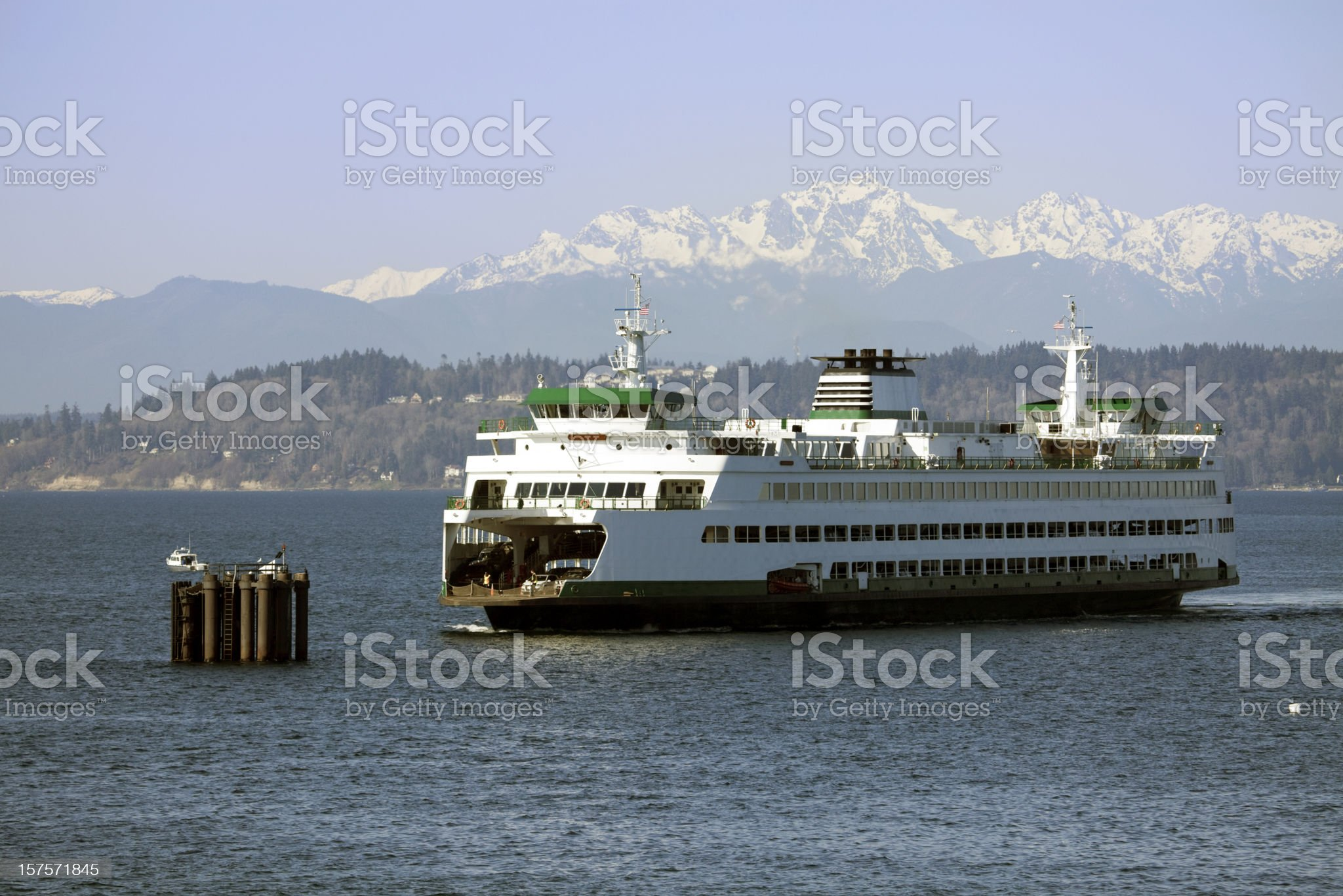Seattle Ferry royalty-free stock photo