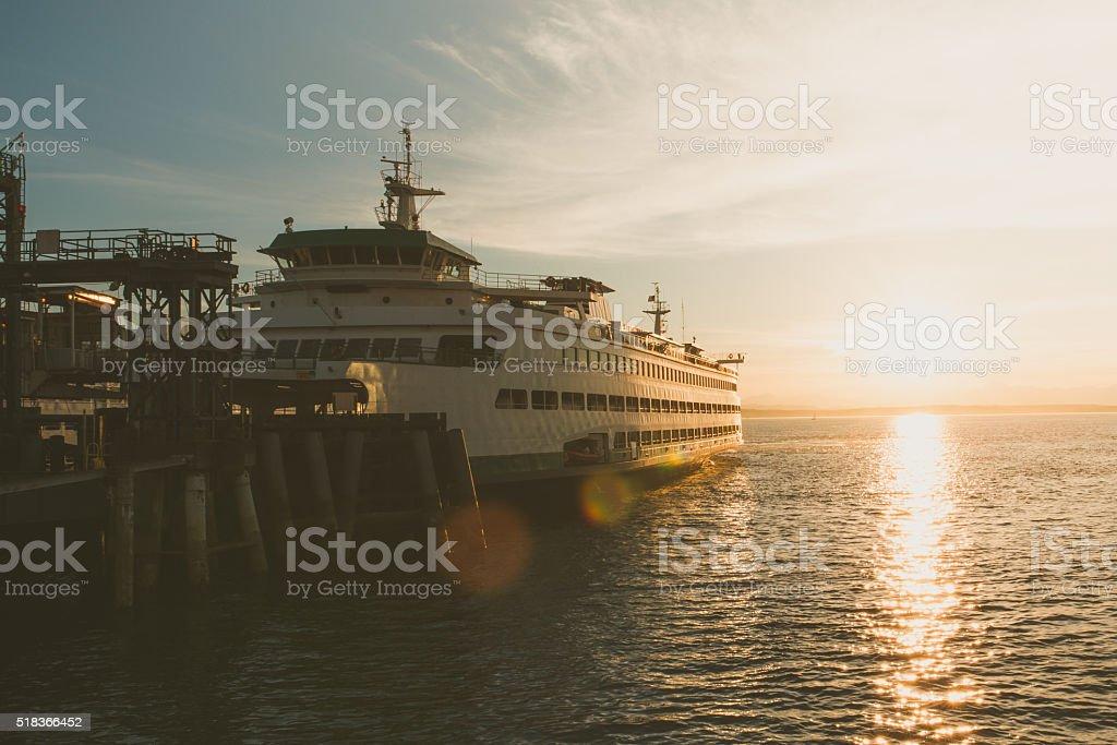 Seattle Ferry stock photo