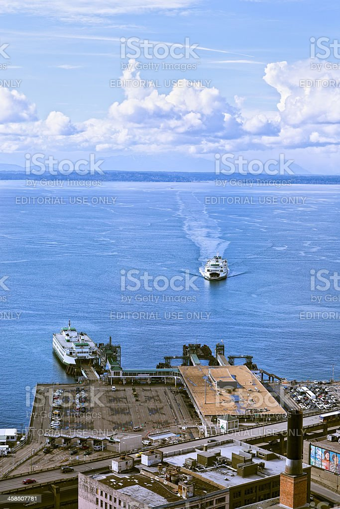 Seattle Ferry Terminal royalty-free stock photo
