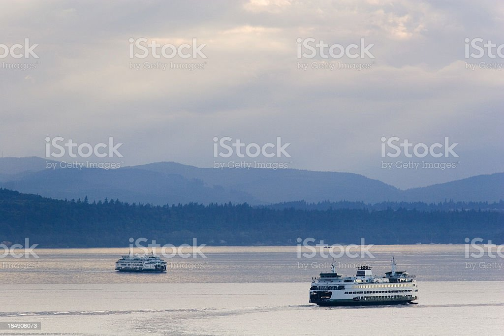 Seattle Ferry Transportation stock photo