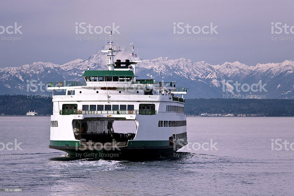 Seattle Ferry Travel royalty-free stock photo