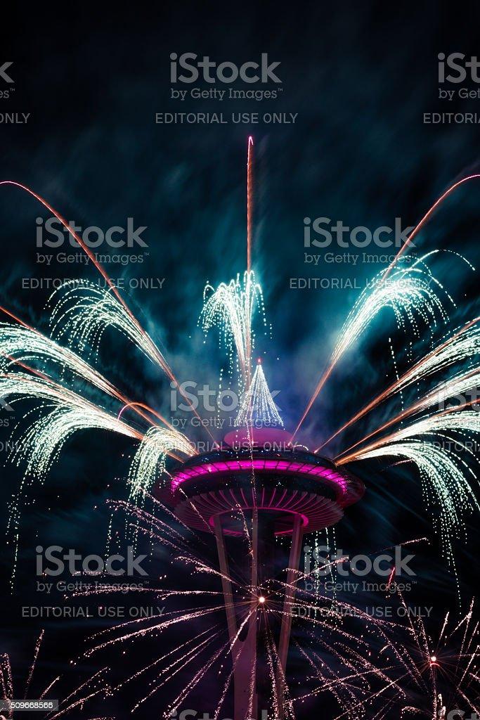 Seattle Fireworks stock photo
