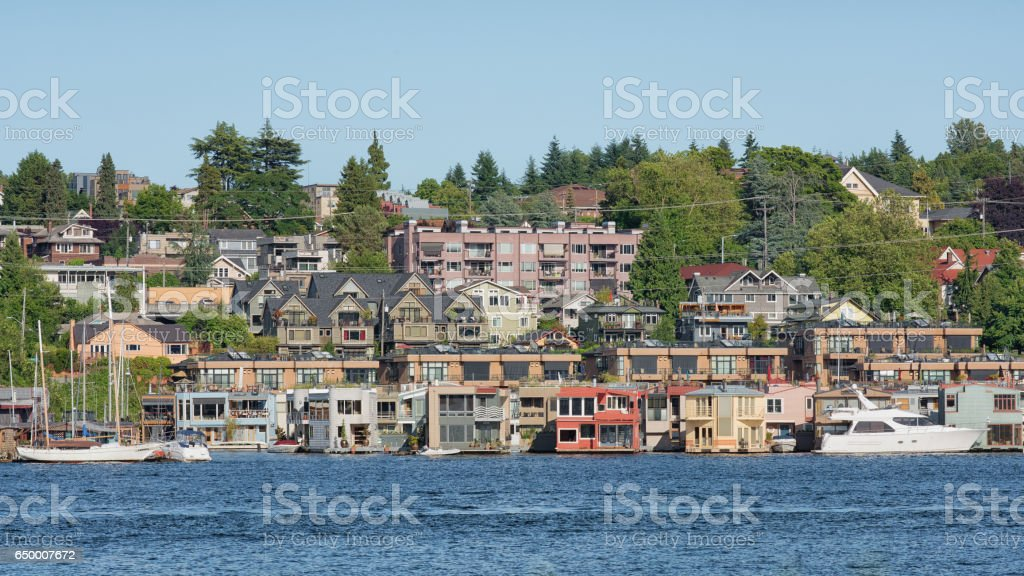 Seattle Floating Homes stock photo
