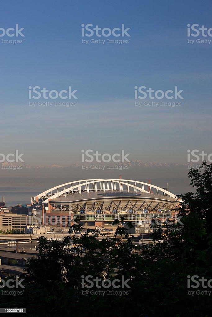 Seattle Football Stadium stock photo