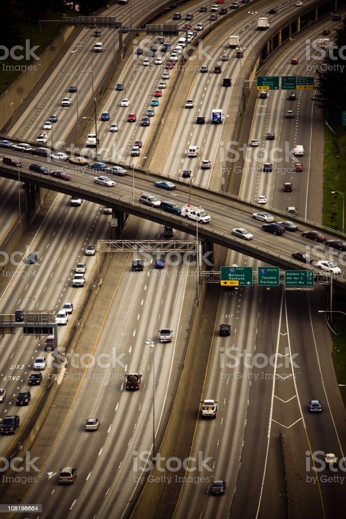 Seattle Freeway royalty-free stock photo