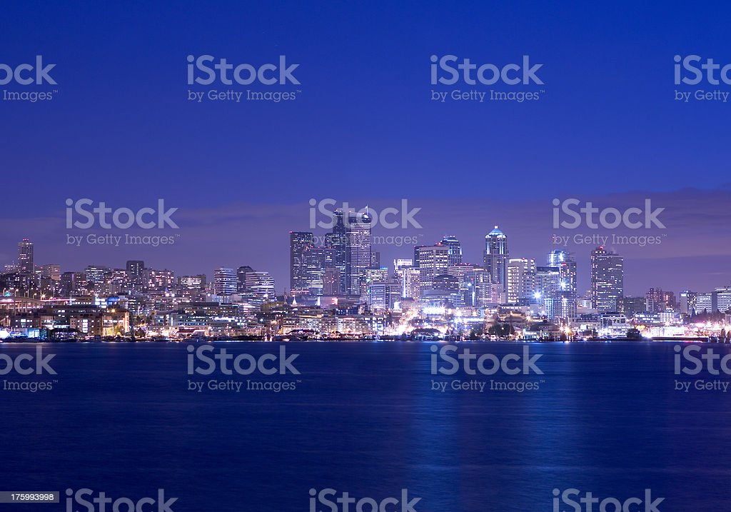 Seattle from Lake Union royalty-free stock photo