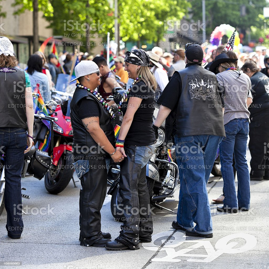 Seattle Gay Pride Parade royalty-free stock photo