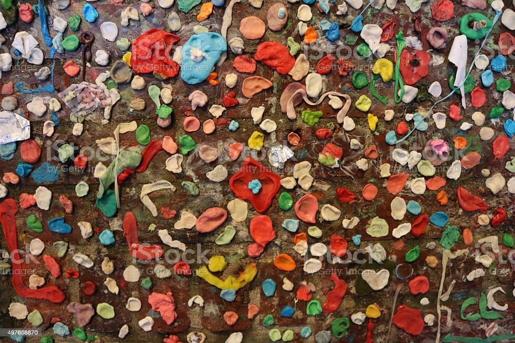 Seattle Gum Wall in Seattle stock photo
