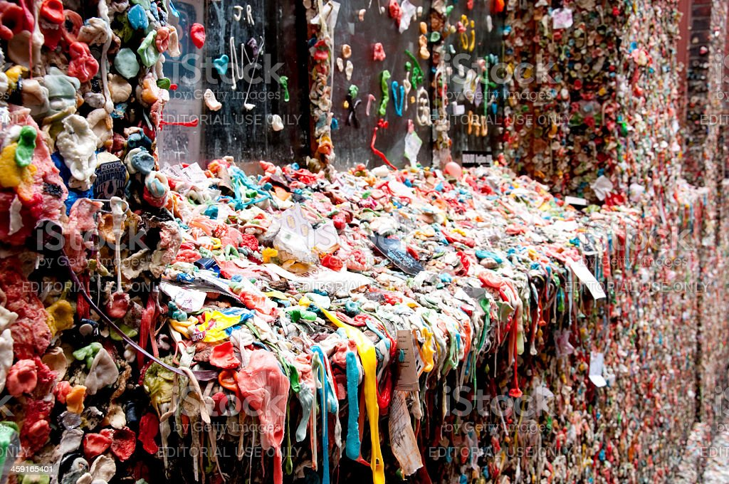 Seattle Gum Wall stock photo