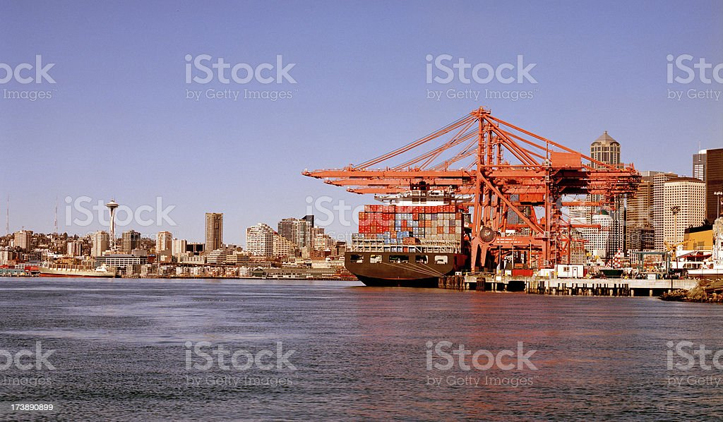 Seattle Harbor View royalty-free stock photo