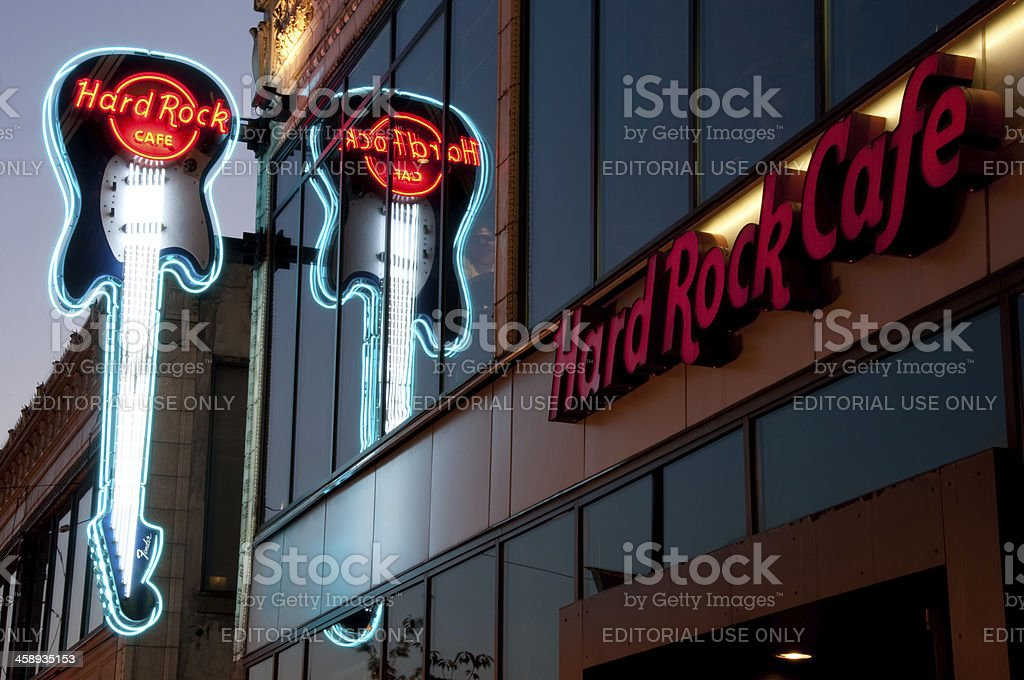 Seattle Hard Rock Cafe stock photo