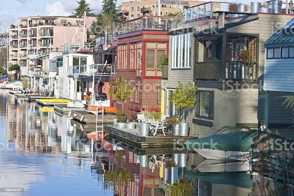 Seattle Houseboats royalty-free stock photo