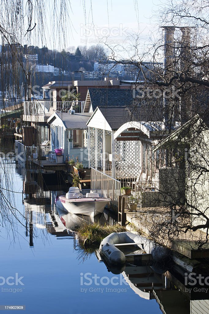 Seattle Houseboats royalty-free stock photo