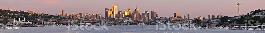 Seattle - Lake Union Sunset royalty-free stock photo