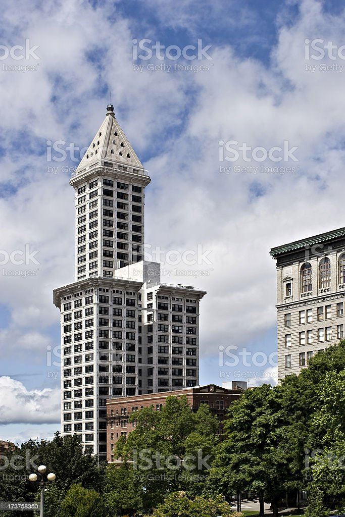 Seattle Landmark Architecture stock photo
