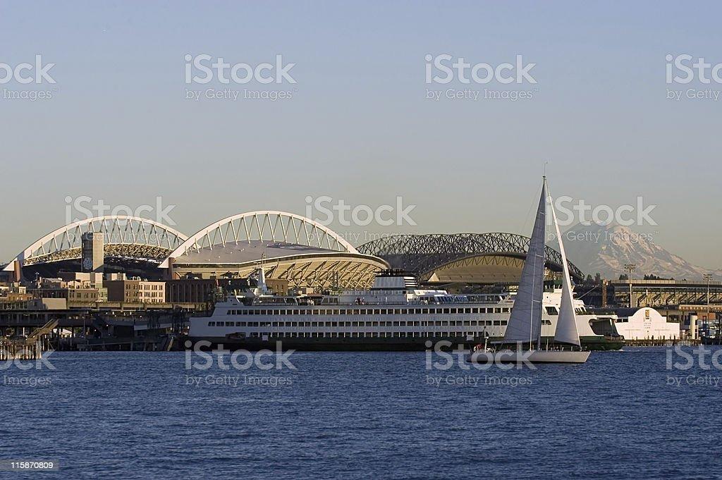 Seattle landscape stock photo