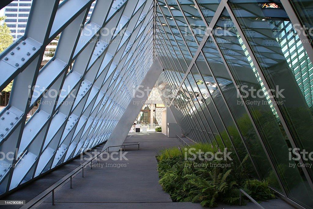 Seattle Library Corridor royalty-free stock photo