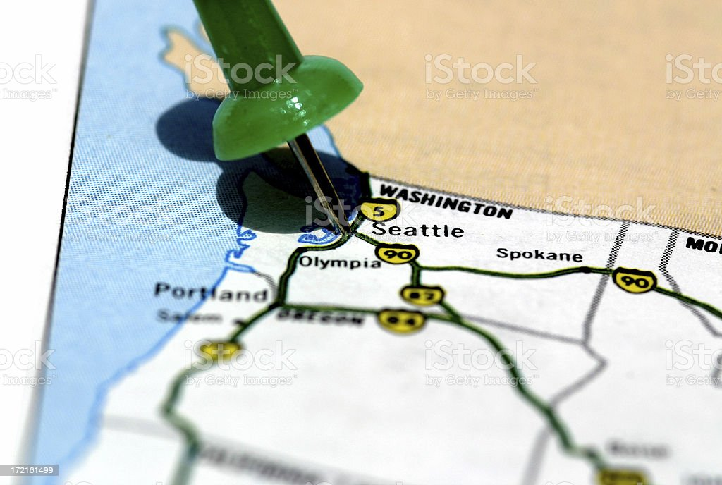 Seattle Map royalty-free stock photo