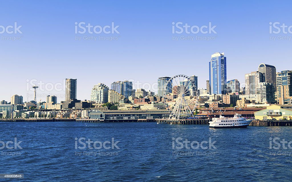 Seattle Marina royalty-free stock photo