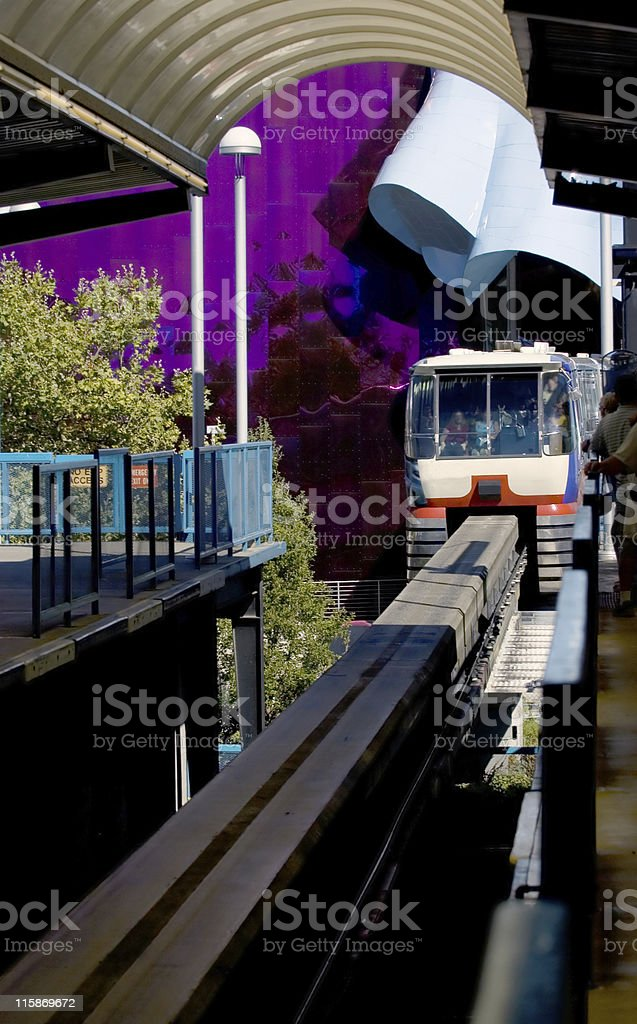 Seattle monorail stock photo